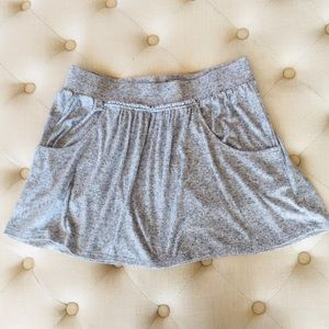 Grey Express Skirt with Pockets